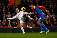 Marouane Chamakh of Crystal Palace challenges with Juan Mata of Manchester United during the Barclays Premier League match at Selhurst Park, London<br /> Picture by David Horn/Focus Images Ltd +44 7545 970036<br /> 22/02/2014