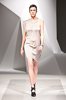 A model walks the runway wearing Nomia Spring 2011 Collection during Mercedes Benz Fashion Week in New York on September 9, 2010