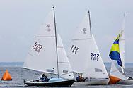 _V0A8092. ©2014 Chip Riegel / www.chipriegel.com. The 2014 Bullseye Class National Regatta, Fishers Island, NY, USA, 07/19/2014. The Bullseye is a Nathaniel Herreshoff designed 15' Marconi rig sailing boat.