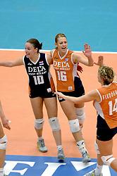 14-10-2006 VOLLEYBAL: DELA TROPHY: NEDERLAND - CUBA: DEN BOSCH<br /> De Nederlandse volleybalsters hebben ook de tweede wedstrijd in de testserie tegen Cuba, met als inzet de Dela Cup, gewonnen. In Den Bosch zegevierde Oranje zaterdagavond opnieuw met 3-2 / Debby Stam<br /> ©2006-WWW.FOTOHOOGENDOORN.NL