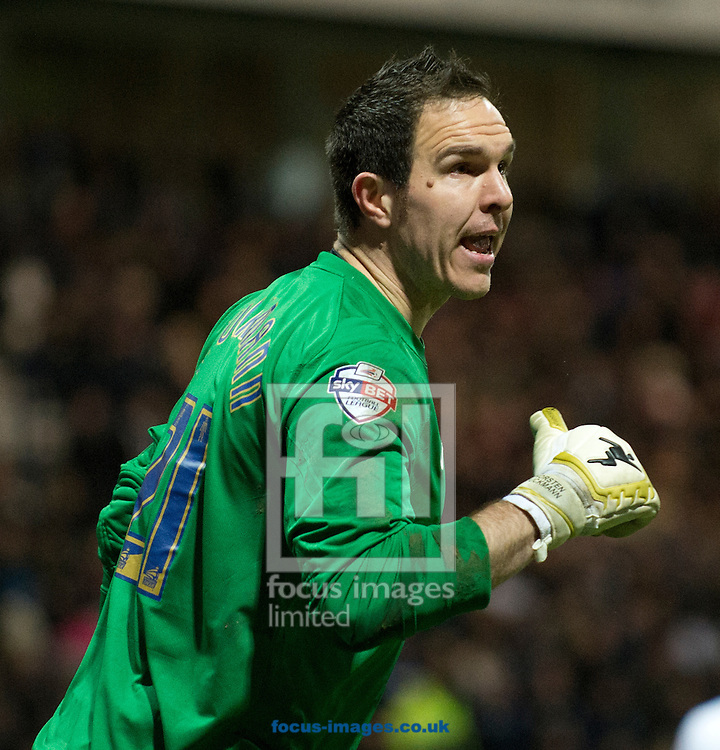 Preston North End goalkeeper Thorsten Stuckmann during the FA Cup match at Deepdale, Preston<br /> Picture by Russell Hart/Focus Images Ltd 07791 688 420<br /> 16/02/2015