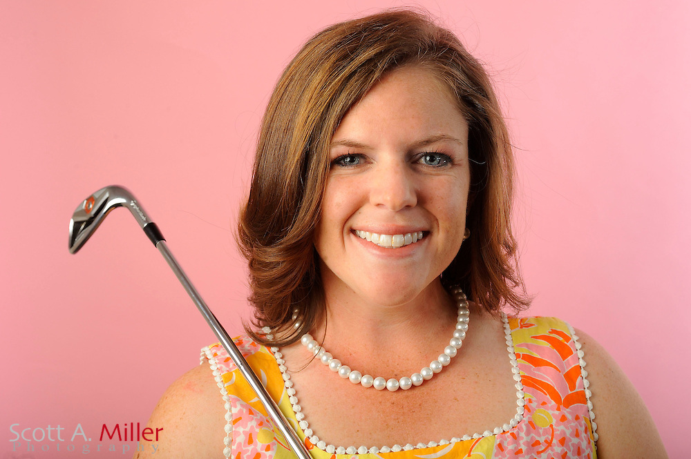 Stephanie Connelly during a portrait shoot prior to the Symetra Tour's Florida's Natural Charity Classic at the Lake Region Yacht and Country Club on March 19, 2012 in Winter Haven, Fla. ..©2012 Scott A. Miller.