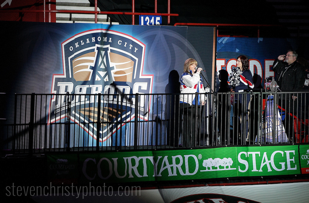 January 13, 2013: The Oklahoma City Barons play the Texas Stars in an American Hockey League game at the Cox Convention Center in Oklahoma City.