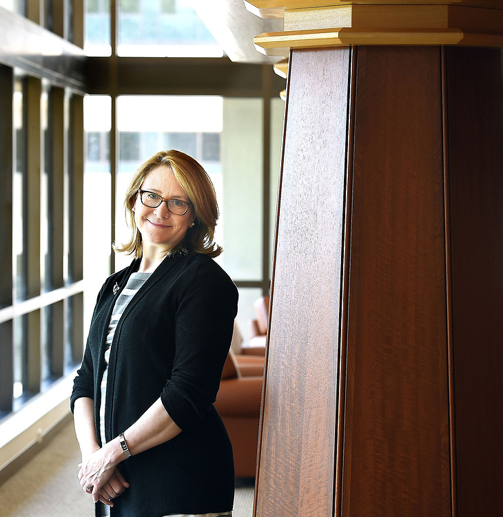 (Mara Lavitt &mdash; New Haven Register) <br /> August 15, 2014 New Haven<br /> Quinnipiac University will be opening its new law school building on its North Haven campus. Law school Dean Jennifer Brown, pictured, gave the Register a sneak peak.<br /> mlavitt@newhavenregister.com
