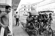 Bicitaxi in Havana, Cuba.
