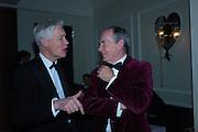 RICHARD KAY; SIR SIMON JENKINS, Nicky Haslam hosts dinner at  Gigi's for Leslie Caron. 22 Woodstock St. London. W1C 2AR. 25 March 2015