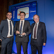 SK Telecom winner of the Best Edge Computing Technology of the 5G Awards ceremony at Drapers' Hall, on 12 June 2019, London, UK.