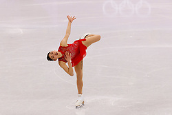 February 12, 2018 - Gangneung, South Korea - Mirai Nagasu of USA compete during the Team Event Ladies Single Skating FS at the PyeongChang 2018 Winter Olympic Games at Gangneung Ice Arena on Monday February 12, 2018. (Credit Image: © Paul Kitagaki Jr. via ZUMA Wire)