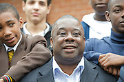 Mayor Boris scheme gets 1,700 volunteers to support young black boys<br /> <br /> <br /> with Mayor's Mentoring Ambassador Ray Lewis, who runs the East Side Academy<br /> <br /> Leytonestone, London, Great Britain <br /> 20th July 2011 <br /> <br /> <br /> Photograph by Elliott Franks