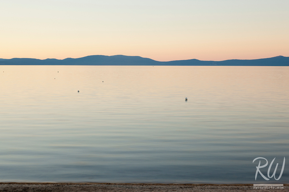South Lake Tahoe at Sunset, California