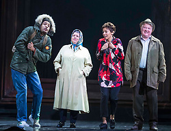 Chronicling Jackie Kay's 20-year search for her biological mother and father and her quest for them to recognise her own existence. <br /> <br /> National Theatre of Scotland's Red Dust Road is adapted from the soul-searching memoir by Jackie Kay, poet, playwright, novelist and Scottish Makar. It's a journey full of heart, humour and profound emotion, exploring race, identity and family secrets, with a deeply human curiosity and compassion.<br /> <br /> Red Dust Road is adapted for the stage by Tanika Gupta, winner of last year's James Tait Black Prize for her drama Lions and Tigers. Completing the creative trio is Dawn Walton, director of the acclaimed salt. by Selina Thompson.<br /> <br /> Red Dust Road is at the Edinburgh International Festival from 14 - 18 August<br /> <br /> Pictured L to R: Declan Spaine, Elaine C Smith, Sasha Frost, Lewis Howden