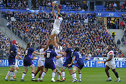 February 23, 2019 - Saint Denis, Seine Saint Denis, France - The Lock of French Team SEBASTIEN VAHAAMAHINA in action during the Guinness Six Nations Rugby tournament between France and Scotland at the Stade de France - St Denis - France..France won 27-10 (Credit Image: © Pierre Stevenin/ZUMA Wire)