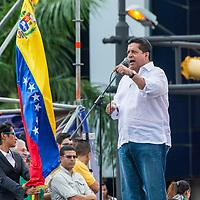 Primer vicepresidente de la Asamblea Nacional, Edgar Zambrano. Protestas contra el gobierno de Maduro realizadas el 23 de enero de 2019. First Vice President of the National Assembly, Edgar Zambrano. Protests against the government of Maduro made on January 23, 2019.