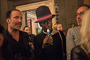 PETROC SESTI; KEZIAH JONES, Okwui Enwezor and Vinyl Facorty hosted party at Ca'Sagredo, Campo Santa Sofia Venice Biennale, Venice. 5 May 2015
