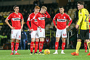Stephen Walker of Middlesbrough (46) lines up a free kick during the EFL Trophy group stage match between Burton Albion and U21 Middlesbrough at the Pirelli Stadium, Burton upon Trent, England on 7 November 2018.