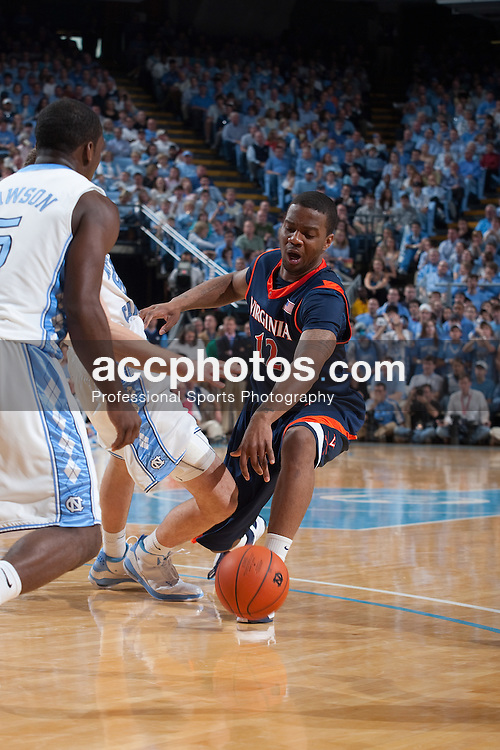 07 February 2009: Virginia Cavaliers forward Jamil Tucker (12) during a 76-61 loss to the North Carolina Tar Heels at the Dean Smith Center in Chapel Hill, NC.