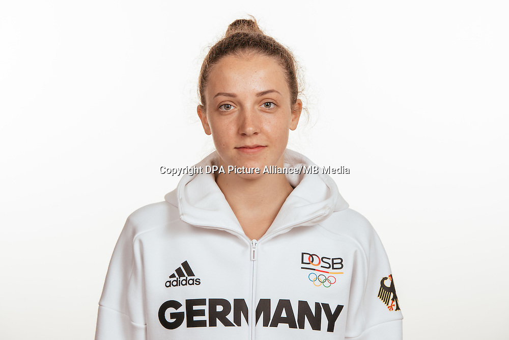 Sina Tkaltschewitsch poses at a photocall during the preparations for the Olympic Games in Rio at the Emmich Cambrai Barracks in Hanover, Germany, taken on 15/07/16   usage worldwide