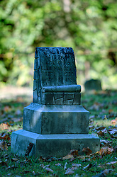 tombstone for Ella Mae Craig in the Methodist Church cemetery at Cades Cove in Blount County Tennessee