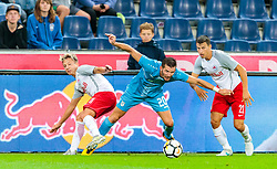 26.07.2017, Red Bull Arena, Salzburg, AUT, UEFA CL, FC Salzburg vs HNK Rijeka, Qualifikation, 3. Runde, Hinspiel, im Bild Marc Rzatkowski (FC Red Bull Salzburg), Alexander Gorgon (HNK Rijeka), Stefan Lainer (FC Red Bull Salzburg) // during the UEFA Championsleague Qualifier 3rd round, 1st leg match between FC Salzburg and HNK Rijeka at the Red Bull Arena in Salzburg, Austria on 2017/07/26. EXPA Pictures © 2017, PhotoCredit: EXPA/ JFK