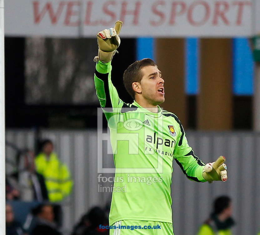 Picture by Mike  Griffiths/Focus Images Ltd +44 7766 223933<br /> 11/01/2014<br /> Adrian of West Ham United during the Barclays Premier League match at the Cardiff City Stadium, Cardiff.