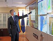 051420 King Felipe visits National Center for Monitoring and Coordination of Emergencies (CENEM)