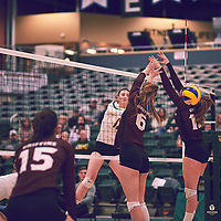 2nd year outside hitter, Jessica Lerminiaux (12) of the Regina Cougars during the Women's Volleyball home game on Fri Jan 25 at Centre for Kinesiology, Health & Sport. Credit: Arthur Ward/Arthur Images