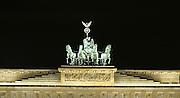 brandenburg statue, berlin, germany