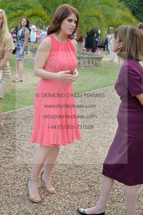 PRINCESS EUGENIE OF YORK at the Quintessentially Foundation and Elephant Family 's 'Travels to My Elephant' Royal Rickshaw Auction presented by Selfridges and hosted by HRH The Prince of Wales and The Duchess of Cornwall held at Lancaster House, Cleveland Row, St.James's, London on 30th June 2015.