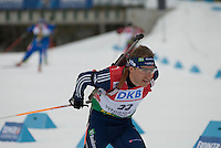 Michal Slesinger (CZE) competes in the World Cup Biathlon men's Sprint Competition on March 13, 2009