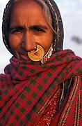 Portrait of a Rajasthani tribeswoman, India