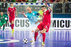 Igor Osredkar of Slovenia and Denis Ramic of Serbia during futsal match between Slovenia and Serbia at Day 1 of UEFA Futsal EURO 2018, on January 30, 2018 in Arena Stozice, Ljubljana, Slovenia. Photo by Ziga Zupan / Sportida