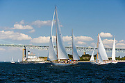 Rugosa, Herreshoff, Rose Island Light Newport Bridge, at the Best Life Museum of Yachting Classic Yacht Regatta