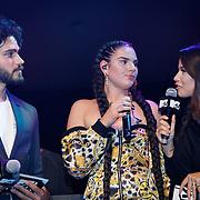 NLD/Amsterdam/20181029 - MTV pre party 2018, Monica Geuze, Famke Louise en Kay Nambiar
