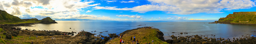 View from the head of the Giant's Causeway overlooking Port Ganny and Port Noffer
