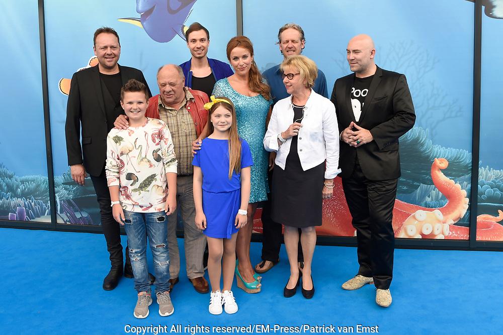 Premiere Disney Animatiefilm Finding Dory in Theater Amsterdam.<br /> <br /> Op de foto:   Voicecast