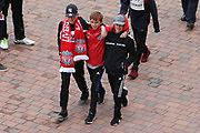 Three amigos arrive during the Premier League match between Liverpool and Stoke City at Anfield, Liverpool, England on 28 April 2018. Picture by Craig Galloway.