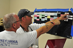 Members of Pennsylvania Task Force 1 finalize response and preparedness plans to mitigate the effects of Hurricane Irma  Friday, Sept. 8. 2017 at Robins Air Force Base in Georgia. Photo By | CHRIS POST PA TF-1