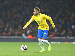 November 16, 2018 - London, England, United Kingdom - London, England - November 16, 2018.Neymar of Brazil .during Chevrolet Brazil Global Tour International Friendly between Brazil and Uruguay at Emirates stadium , Arsenal Football Club, England on 16 Nov 2018. (Credit Image: © Action Foto Sport/NurPhoto via ZUMA Press)