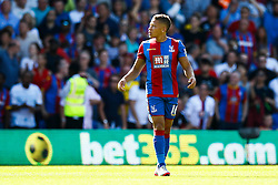 Goal, disallowed by Dwight Gayle of Crystal Palace scores, Crystal Palace 1-0 Aston Villa - Mandatory byline: Jason Brown/JMP - 07966386802 - 22/08/2015 - FOOTBALL - London - Selhurst Park - Crystal Palace v Aston Villa - Barclays Premier League