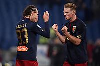 Esultanza Diego Laxalt, Oscar Hiljemark Genoa celebration <br /> Roma 05-02-2018 Stadio Olimpico Football Calcio Serie A 2017/2018 Lazio - Genoa . Foto Andrea Staccioli / Insidefoto
