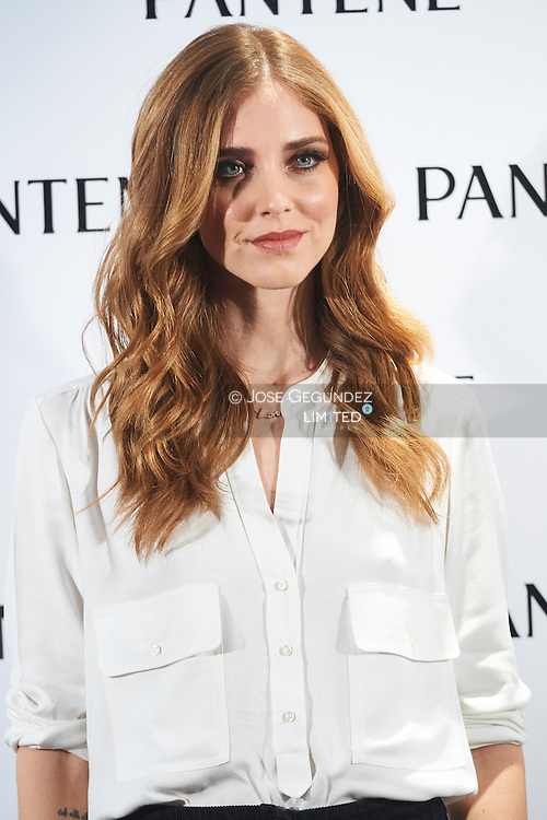 Chiara Ferragni attends the presentation of the new Pantene Global Ambassador on January 28, 2016 in Madrid