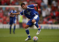 Photo: Rich Eaton.<br /> <br /> Barnsley v Cardiff City. Coca Cola Championship.<br /> <br /> 05/08/2006. Cardiff goalscorer Joe Ledley on the ball