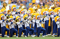 Sep 1, 2018; Charlotte, NC, USA; The West Virginia Mountaineers band performs pregame before the start against the Tennessee Volunteers at Bank of America Stadium. Mandatory Credit: Ben Queen-USA TODAY Sports