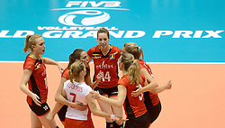 10-08-2014 NED: FIVB Grand Prix Belgie - Puerto Rico, Doetinchem<br /> Lise Van Hecke, Helene Rousseaux
