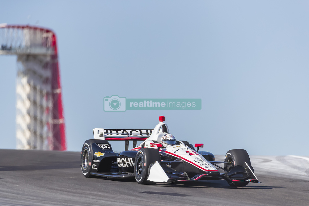 February 12, 2019 - Austin, Texas, U.S. - JOSEF NEWGARDEN (2) of the United States goes through the turns during practice for the IndyCar Spring Test at Circuit Of The Americas in Austin, Texas. (Credit Image: © Walter G Arce Sr Asp Inc/ASP)