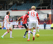 Dundee&rsquo;s Greg Stewart scores to make it 1-1 - Dundee v Ross County - Ladbrokes Premiership at Dens Park<br /> <br />  <br />  - &copy; David Young - www.davidyoungphoto.co.uk - email: davidyoungphoto@gmail.com