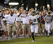 Georgia Tech's Anthony Allen runs down the sideline to score GA Tech's first touchdown  against  Clemson  on Thursday, September 10, 2009, at  Bobby Dodd Stadium at Historic Grant Field. ©2009 Johnny Crawford