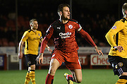 Sonny Bradley in action during the Sky Bet League 2 match between Crawley Town and Newport County at the Checkatrade.com Stadium, Crawley, England on 1 March 2016. Photo by Michael Hulf.