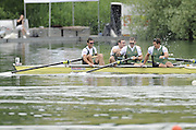 Lucerne, SWITZERLAND. AUS M4-, left to right,  bow, David BANKS, James MARBURG, Cameron McKENZIE McHARG Gold Medalist  during the final of t the Men's Four,  at the  2008 FISA World Cup Regatta, Round 2.  Lake Rotsee, on Sunday 01/06/2008.  [Mandatory Credit:  Peter Spurrier/Intersport Images].Lucerne International Regatta. Rowing Course, Lake Rottsee, Lucerne, SWITZERLAND.
