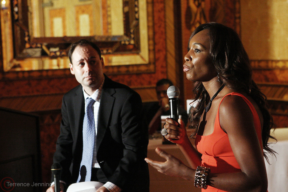 7 July 2010- New York, NY- Venus Williams at book signing for her new book ' Come to Win ' held at The Russian Tea Room as she begins her promotion of her new book ' Come to Win ' published by HarperCollins on July 7, 2010 in New York City.
